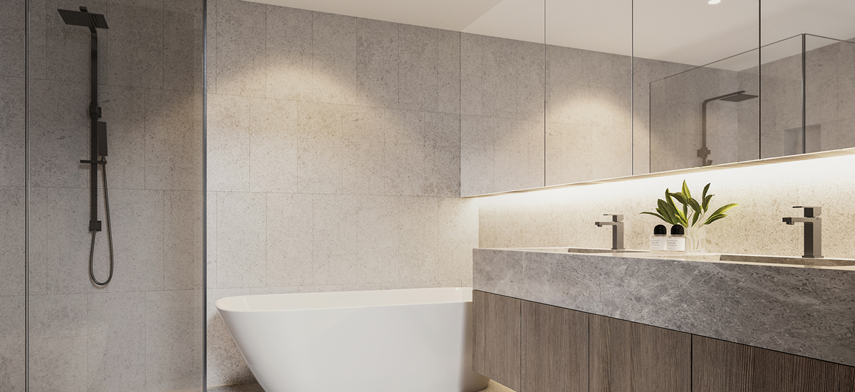 off plan apartment for sale 67 Parkside apartment modern bathroom in Caulfield North
