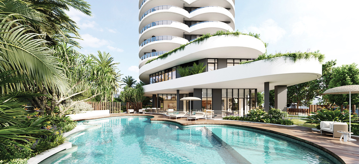 chevron one chevron island gold coast queensland brisbane apartments development property holiday investment luxury high end residential pool amenities resort style