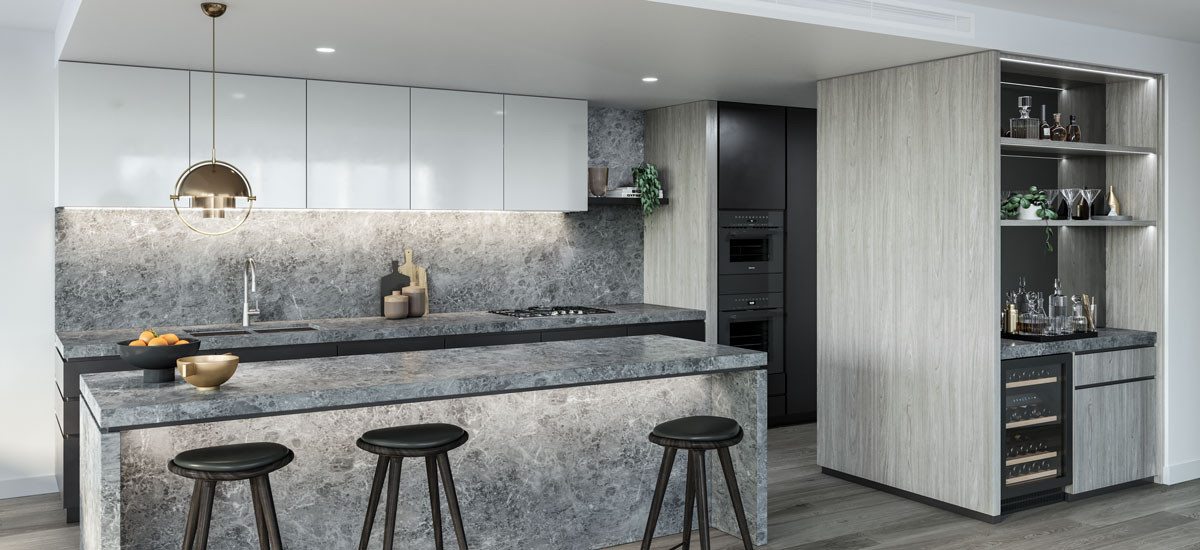 auborn lane auburn village hawthorn residential development apartments sustainable rothelowman kitchen contemporary design architectural dining