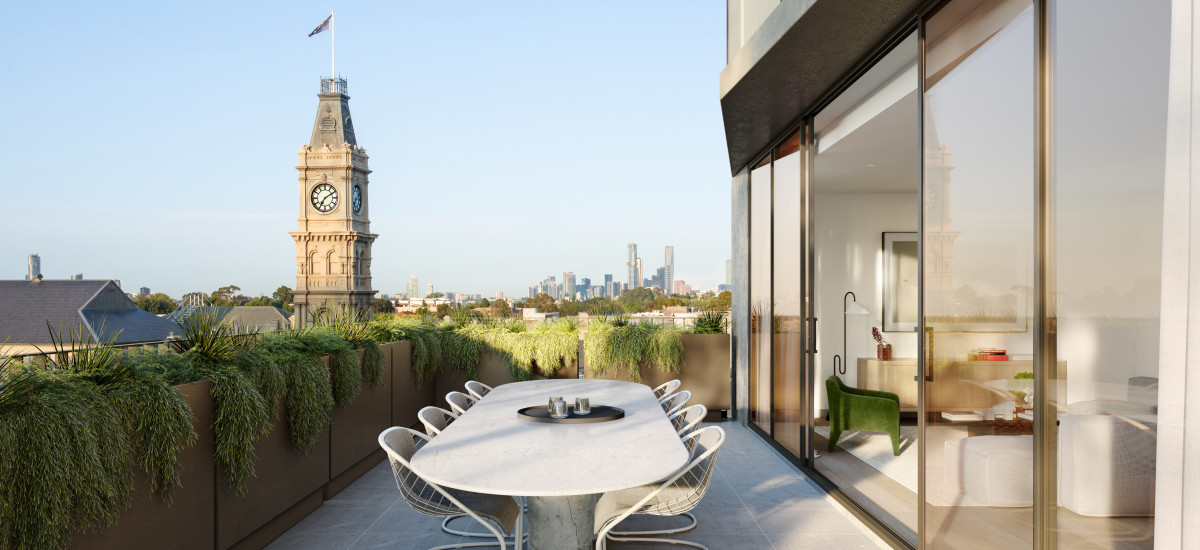 arcade glenferrie road residential apartments and developments melbourne terrace living lounge