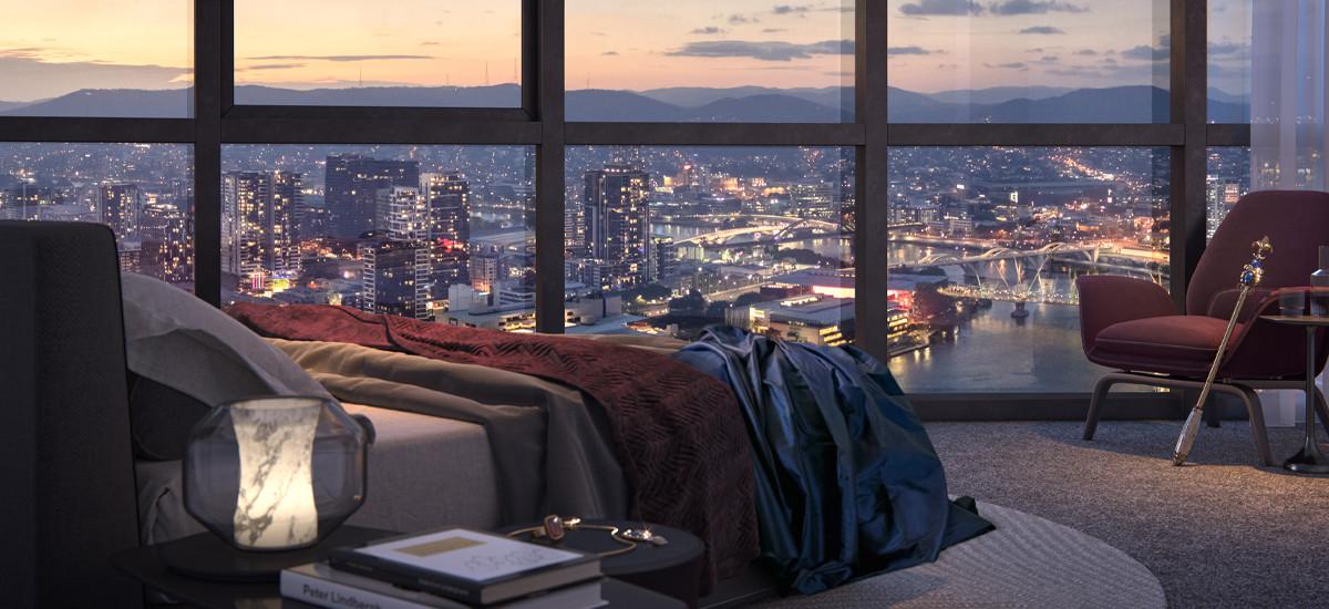 Queens Wharf bedroom