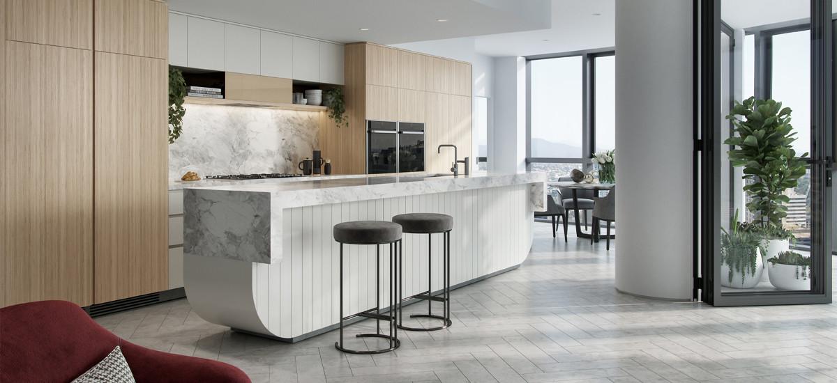 Queens Wharf kitchen