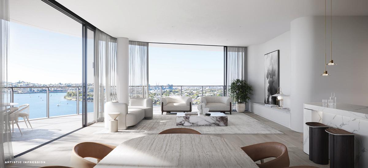 quay waterfront newstead brisbane queensland apartment development luxury amenities lounge living room open plan