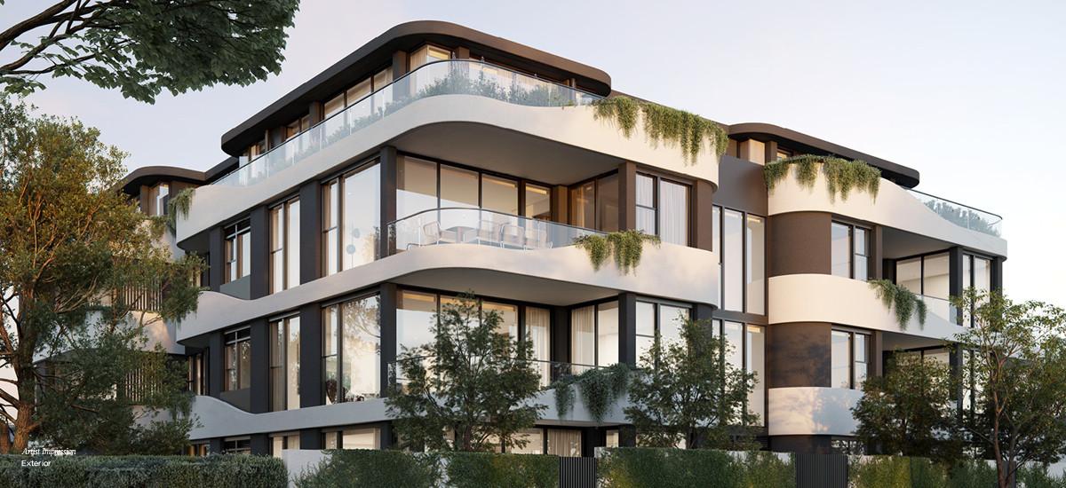 contour apartment development residential home malvern investment facade streetscape garden green
