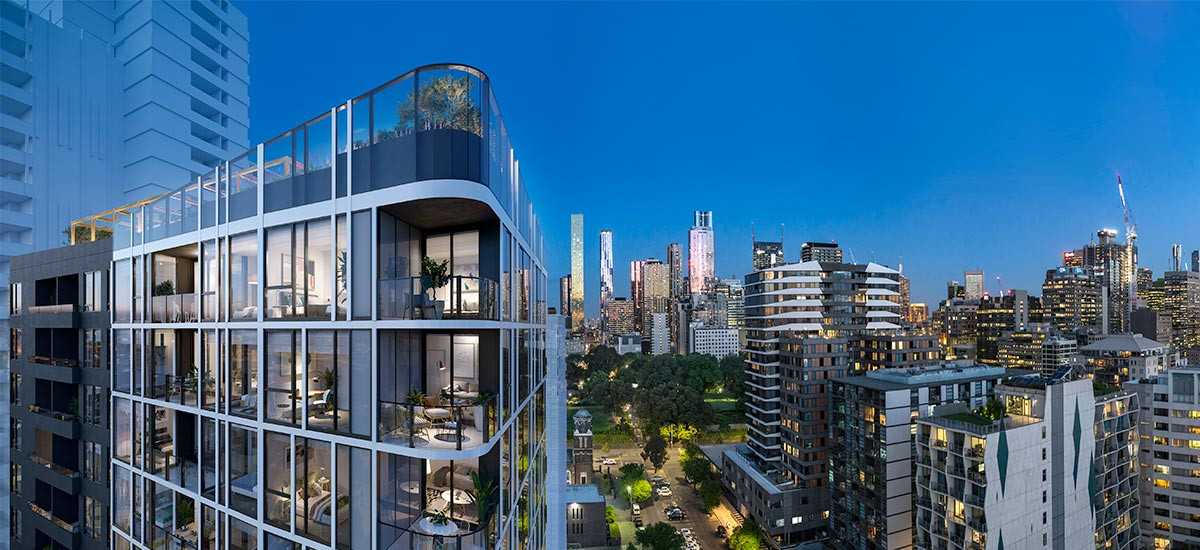 parkhill residences apartment developments west melbourne cbd city facade exterior