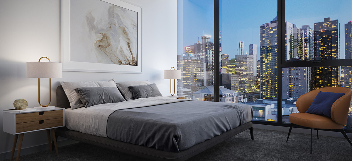 parkhill residences apartment developments west melbourne cbd city bedroom skyline views cityscape