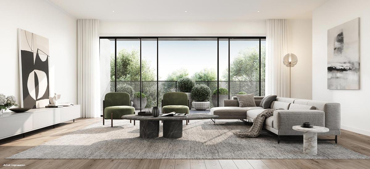 ascot place maribyrnong outdoor living nature parkland serene entertaining living lounge area terrace balcony
