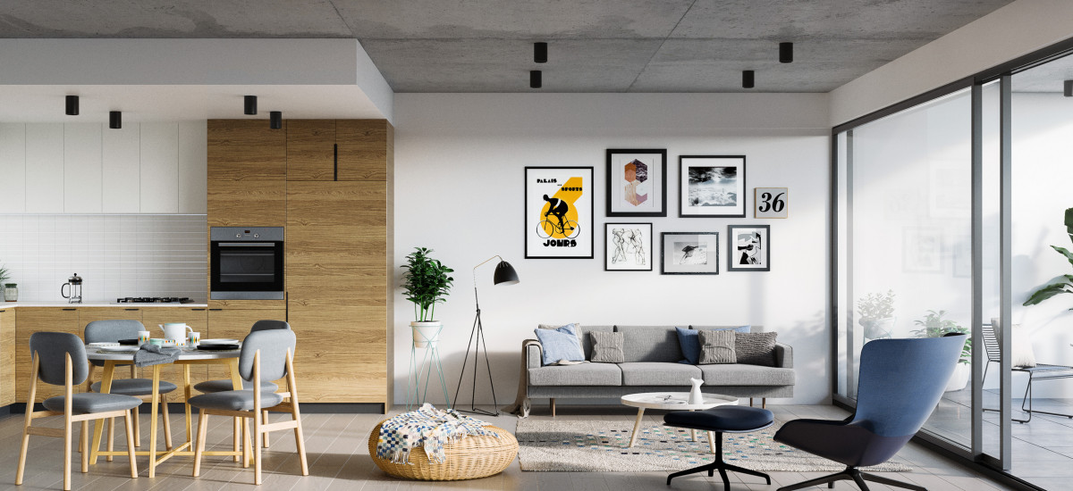 ovation middle footscray apartments developments open plan living kitchen dining balcony