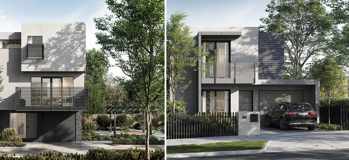 Ascot Place townhouses in Ascot Vale