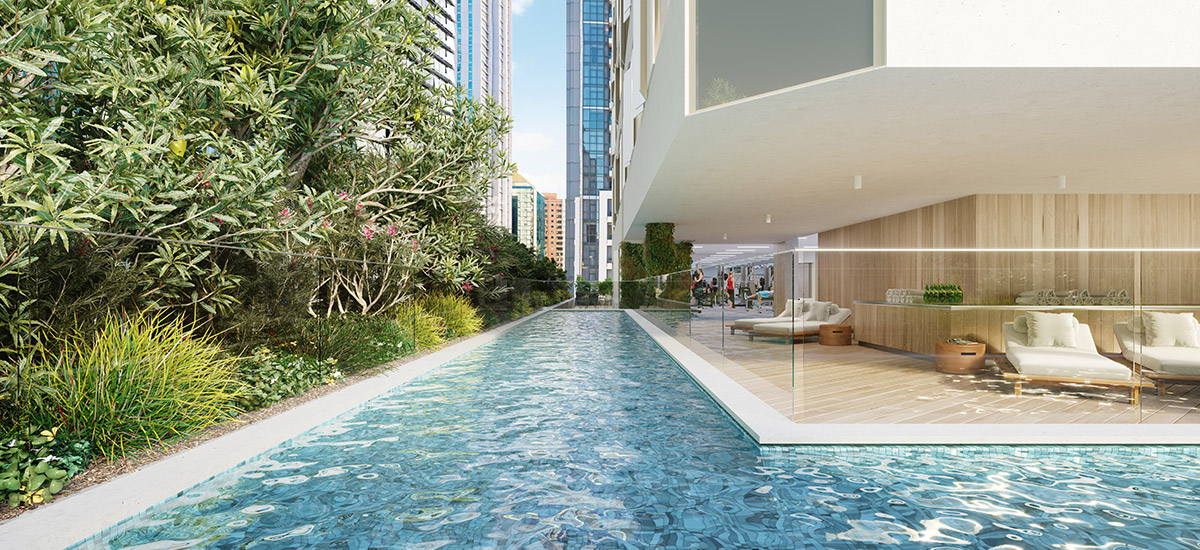 Casa Residences apartment swimming pool in NSW