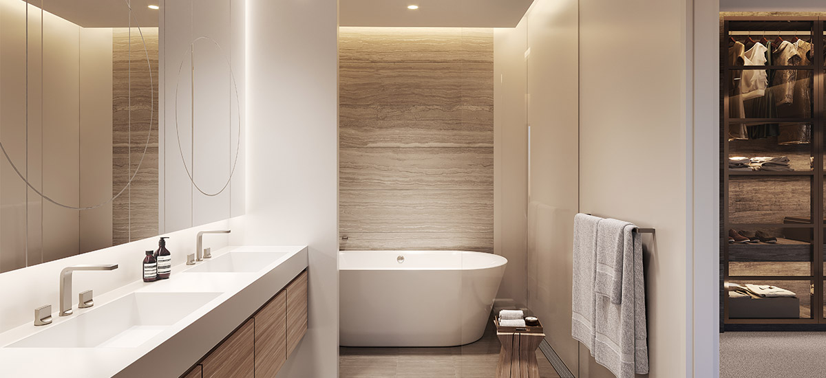Castle Residences apartment bathoom in NSW