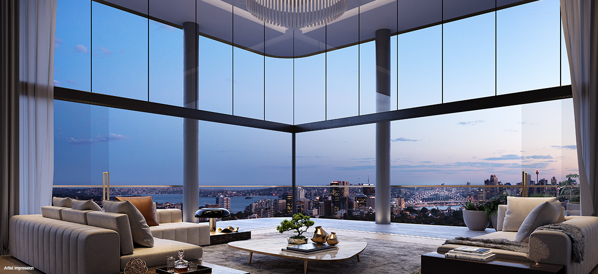 off the plan apartment for sale Eighty Eight living room penthouse