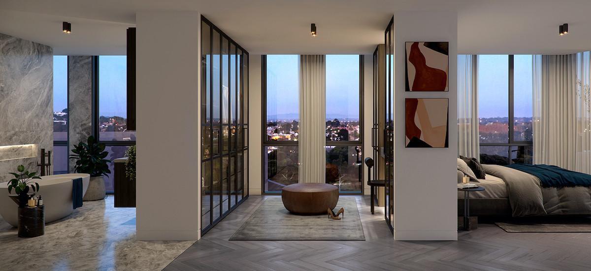 Georgies apartments in Fitzroy bedroom
