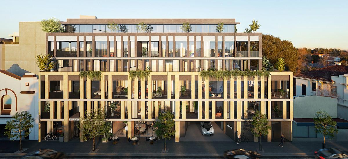 Georgies apartments in Fitzroy street view