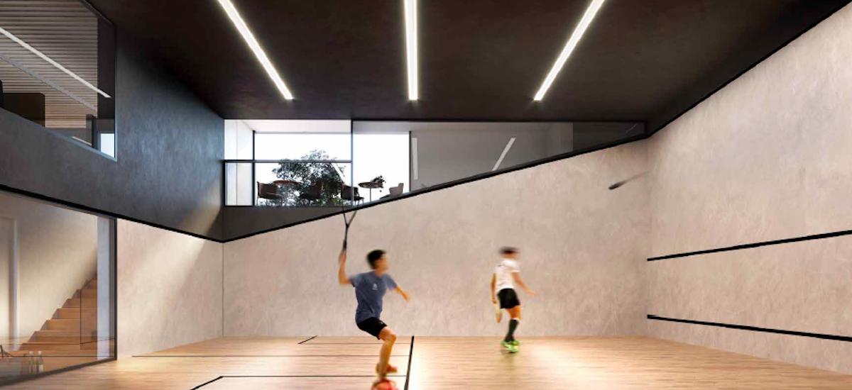 Ivanhoe Gardens squash court