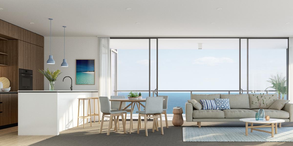 off plan apartment for sale Sandbar Burleigh apartment dining room in Burleigh Heads Queensland