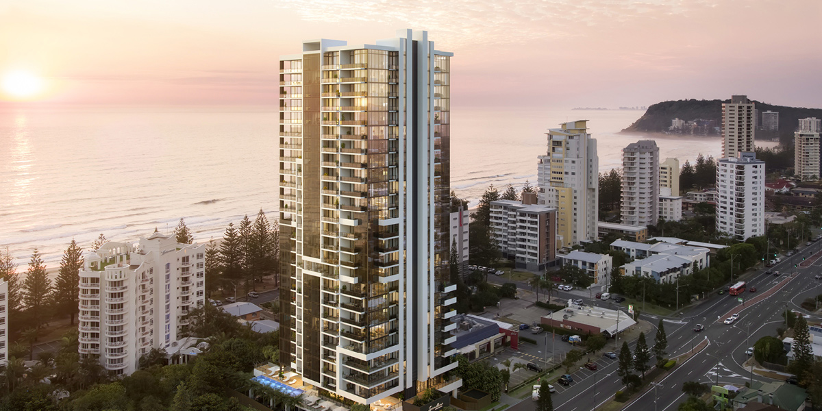 off plan apartment for sale Sandbar Burleigh apartment exterior in Burleigh Heads Queensland